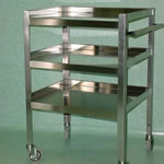 STAINLESS STEEL TROLLEY Stainless Pharmaceutical Furniture
