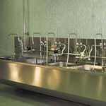 SUSPENDED STAINLESS STEEL SINK Stainless Pharmaceutical Furniture
