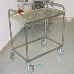 STAINLESS STEEL TROLLEY GRID SHELF Stainless Furniture